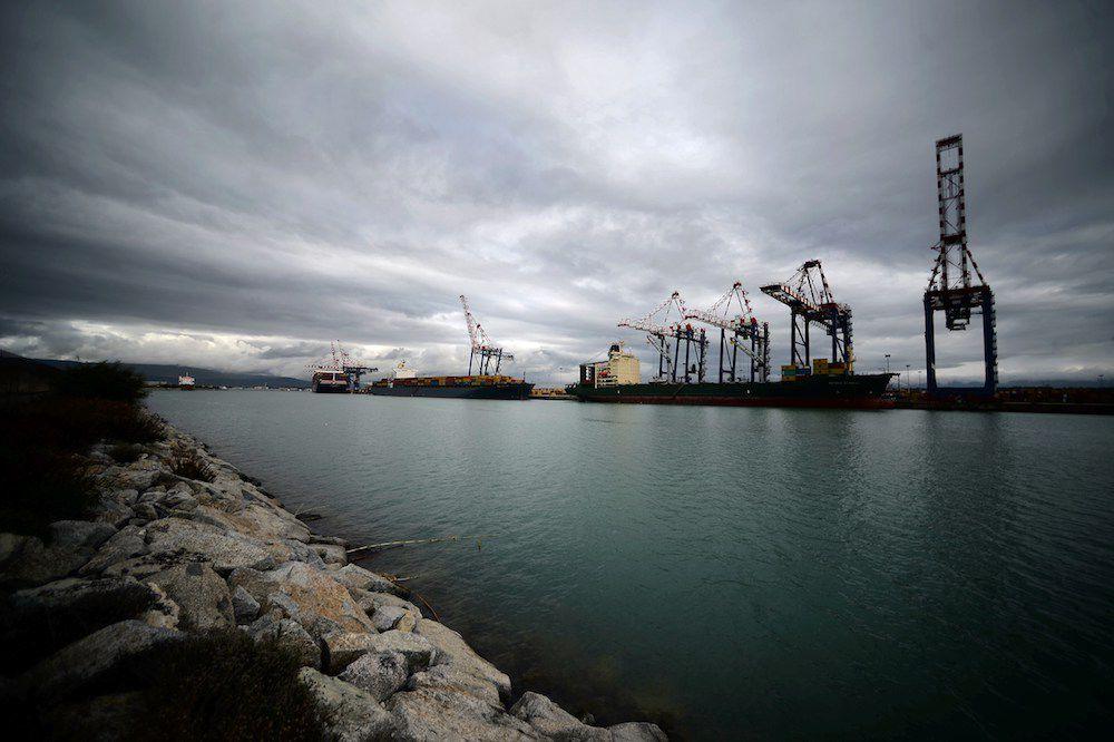Il porto di Gioia Tauro, Calabria, febbraio 2014 (Foto: FILIPPO MONTEFORTE/AFP/Getty Images).