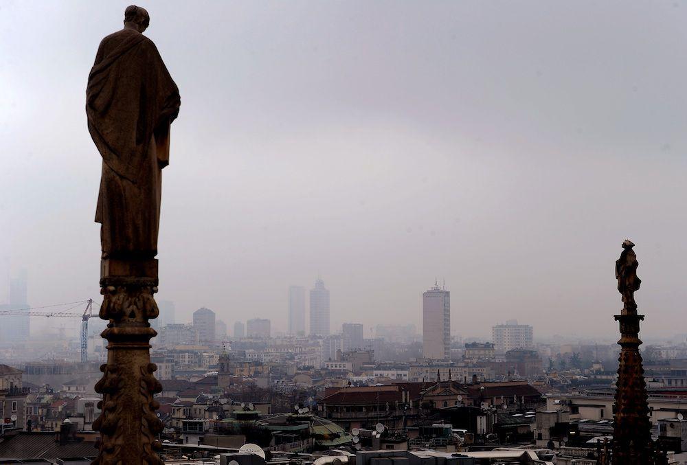 MIlano dal Duomo (Foto: ALBERTO PIZZOLI/AFP/Getty Images).