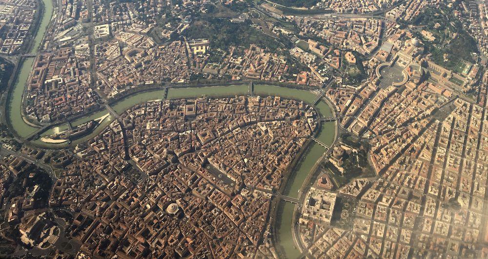 Veduta aerea di Roma (Foto: ALBERTO PIZZOLI/AFP/Getty Images).