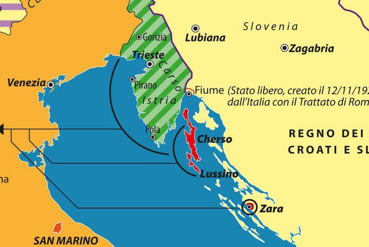 Dalmazia Cartina Geografica.Quando Fini Sognava Istria E Dalmazia Limes