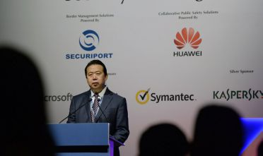 Meng Hongwei, presidente dell'Interpol fino alle dimissioni forzate (dalla Cina) del 7 ottobre 2018. Foto di ROSLAN RAHMAN/AFP/Getty Images.