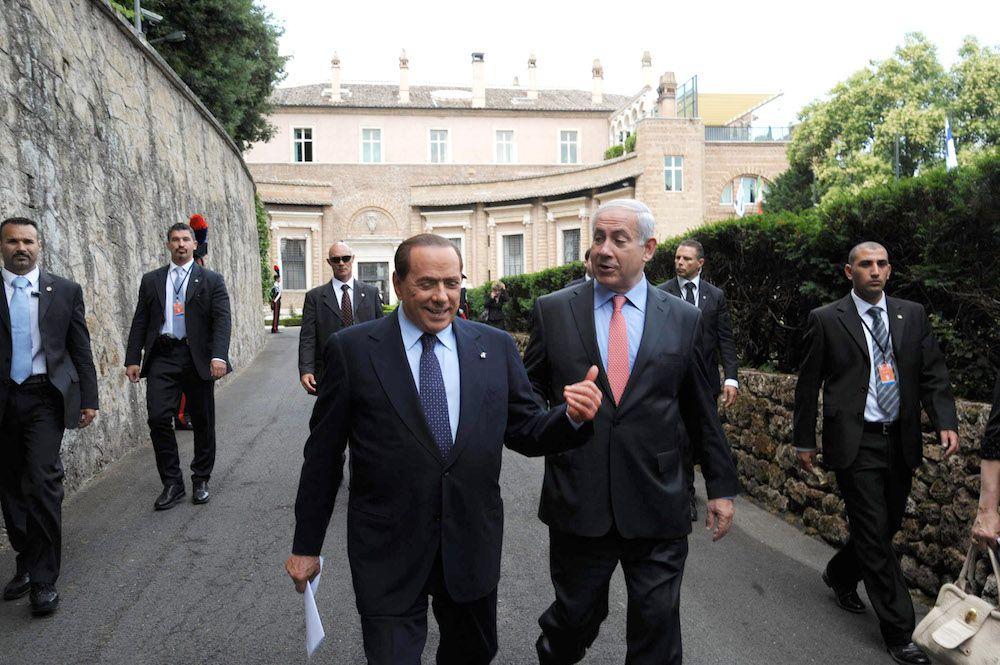 Netanyahu e Berlusconi. giugno 2011 (Photo by Amos Ben Gershom/GPO via Getty Images).