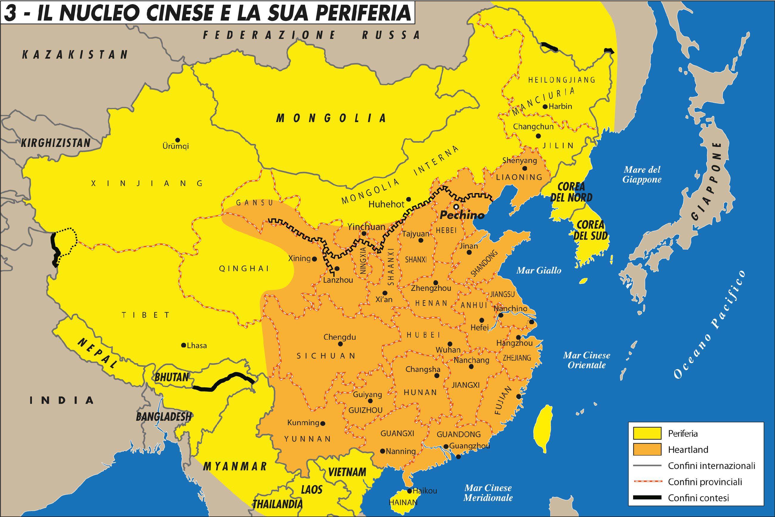 Cartina Mondo orientale
