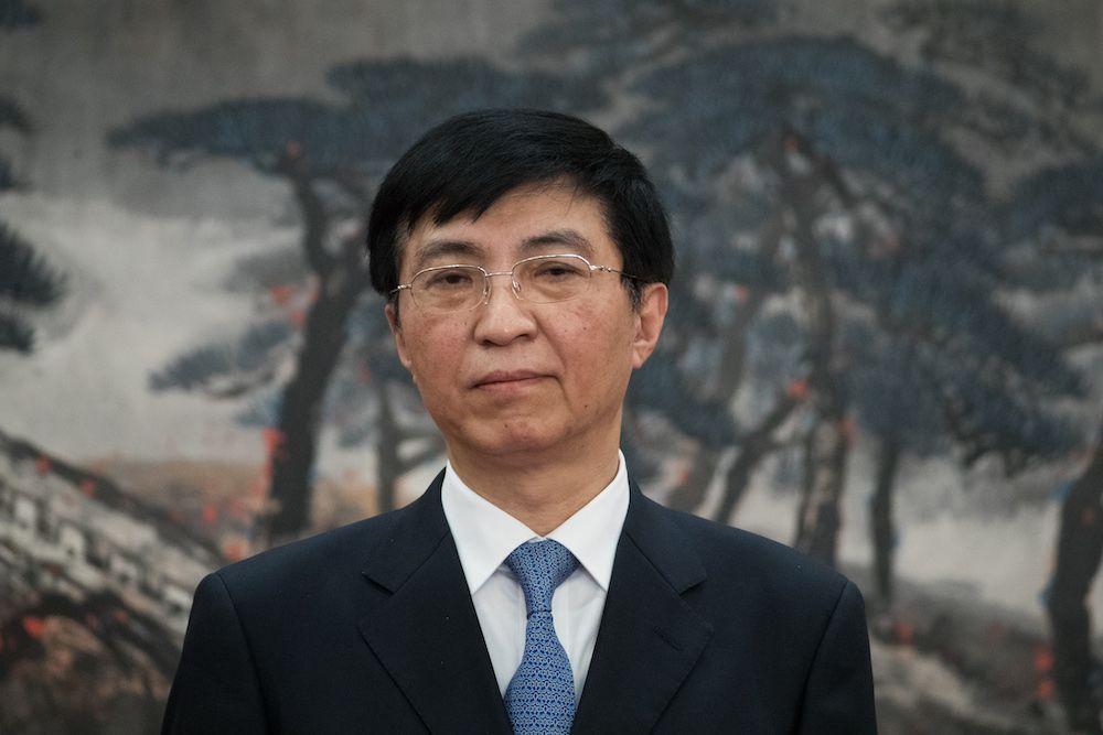Wang Huming, membro del Comitato permanente del Politburo e responsabile della propaganda del Pcc. (Photo by Lintao Zhang/Getty Images).
