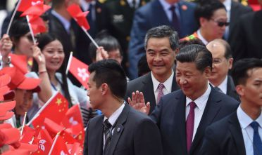 Xi Jinping a Hong Kong, giugno 2017 (Photo credit should read ANTHONY WALLACE/AFP/Getty Images)