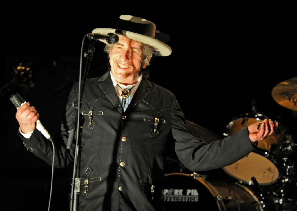 Legendary American singer, songwriter, poet, artist and actor, Bob Dylan performs from his repertoire of over 400 songs and 50 albums at the 22nd annual Bluesfest music festival near Byron Bay on April 25, 2011. Dylan will conclude his tour of Australia with two shows in Sydney on April 27 and 28. AFP PHOTO / Torsten BLACKWOOD (Photo credit should read TORSTEN BLACKWOOD/AFP/Getty Images)