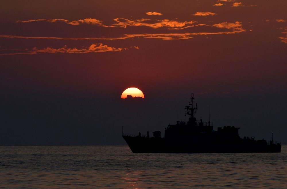 Nave militare italiana, via Getty Images