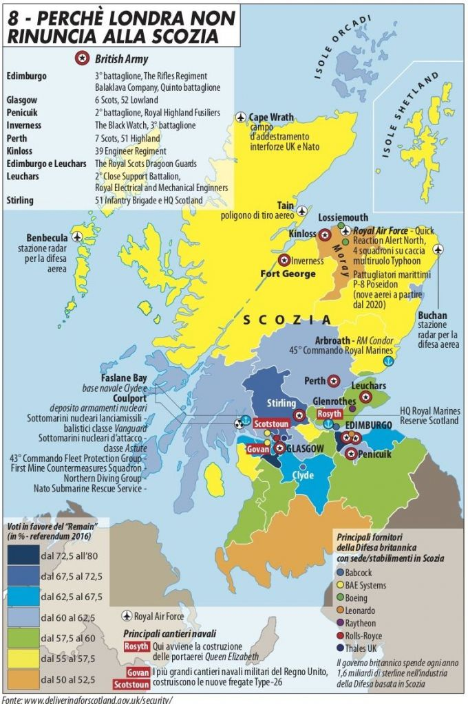 La Cartina Della Scozia.Europa O Inghilterra Il Dilemma Di Edimburgo Limes