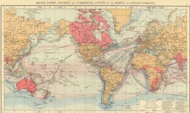 Fonte: R. Andree, British Empire, showing the commercial routes of the World and ocean currents, London 1895, The Times Atlas, tavv. 7-8.