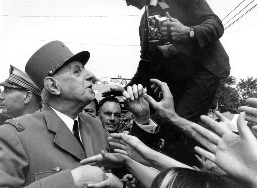 1967:  The French President Charles de Gaulle meets the people in Canada.  (Photo by Evening Standard/Getty Images)