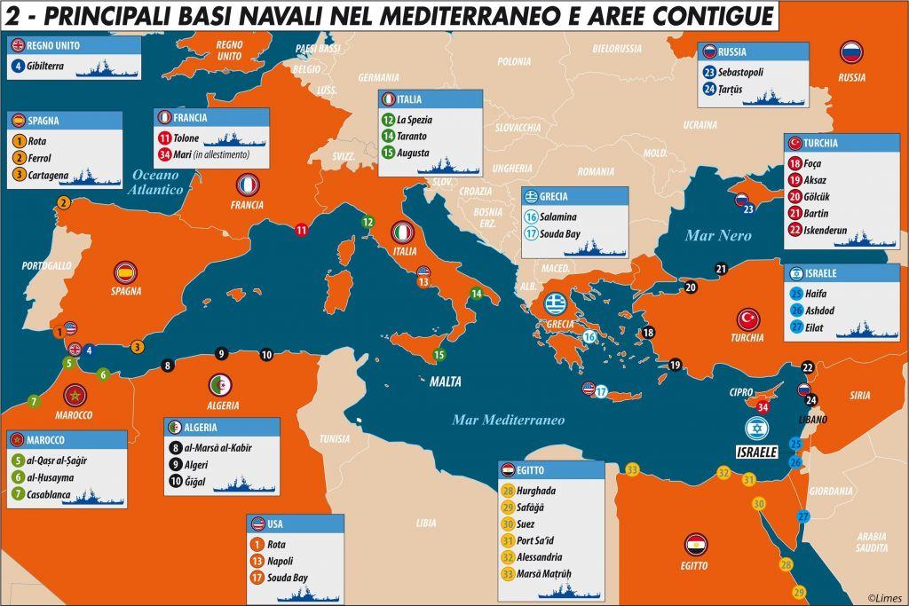 Bacino Del Mediterraneo Cartina Politica.Nel Mediterraneo E Corsa Al Riarmo Navale Limes
