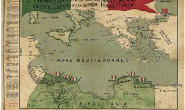 Fonte: Il tricolore italiano in Tripolitania e Cirenaica. Diario illustrato della guerra italo-turca, Stabilimento d'arti grafiche L. Teodoro & Frige, Milano, 25 novembre 1911.