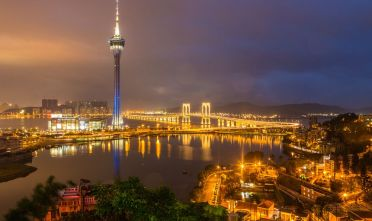 Vista della Macau Tower, 2014. (Foto di: Callaghan Walsh/Getty Images).