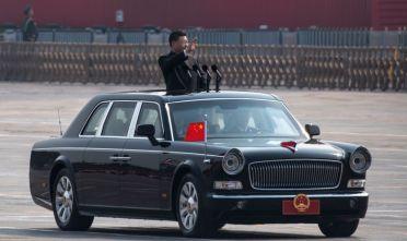 Xi Jinping durante i festeggiamenti per i 70 anni della Repubblica Popolare a piazza Tiananmen (Pechino). Foto: Kevin Frayer/Getty Image