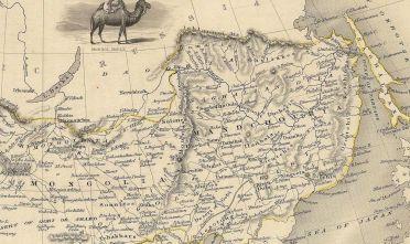 Fonte carta 1: Particolare da J. Rapkin, Thibet, Mongolia, and Mandchouria, London 1851, Tallis.