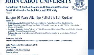 John Cabot novembre