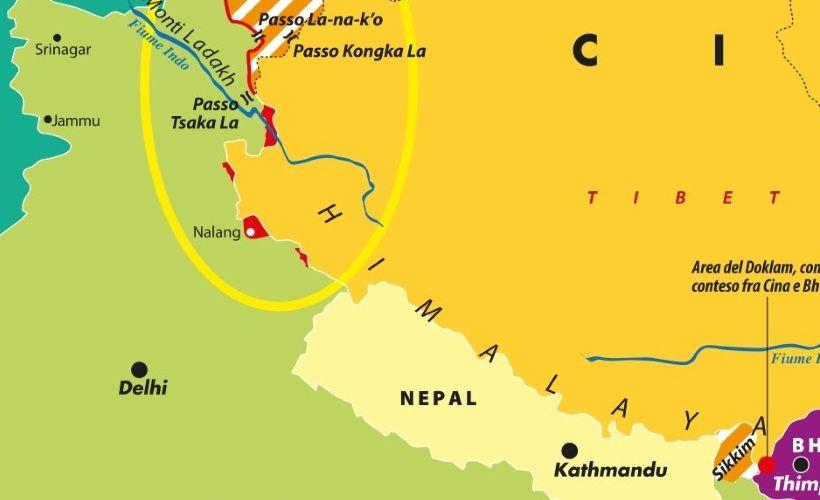 Cartina Dell India Del Nord.Carta Il Confine Tra Cina E India Limes