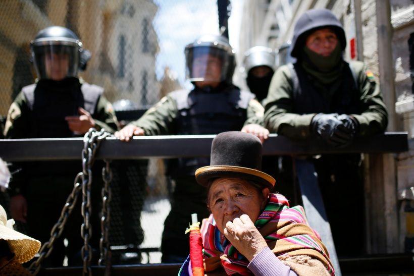 Bolivia, dopo le dimissioni del presidente Evo Morales. Foto di Gaston Brito Miserocchi/Getty Images.