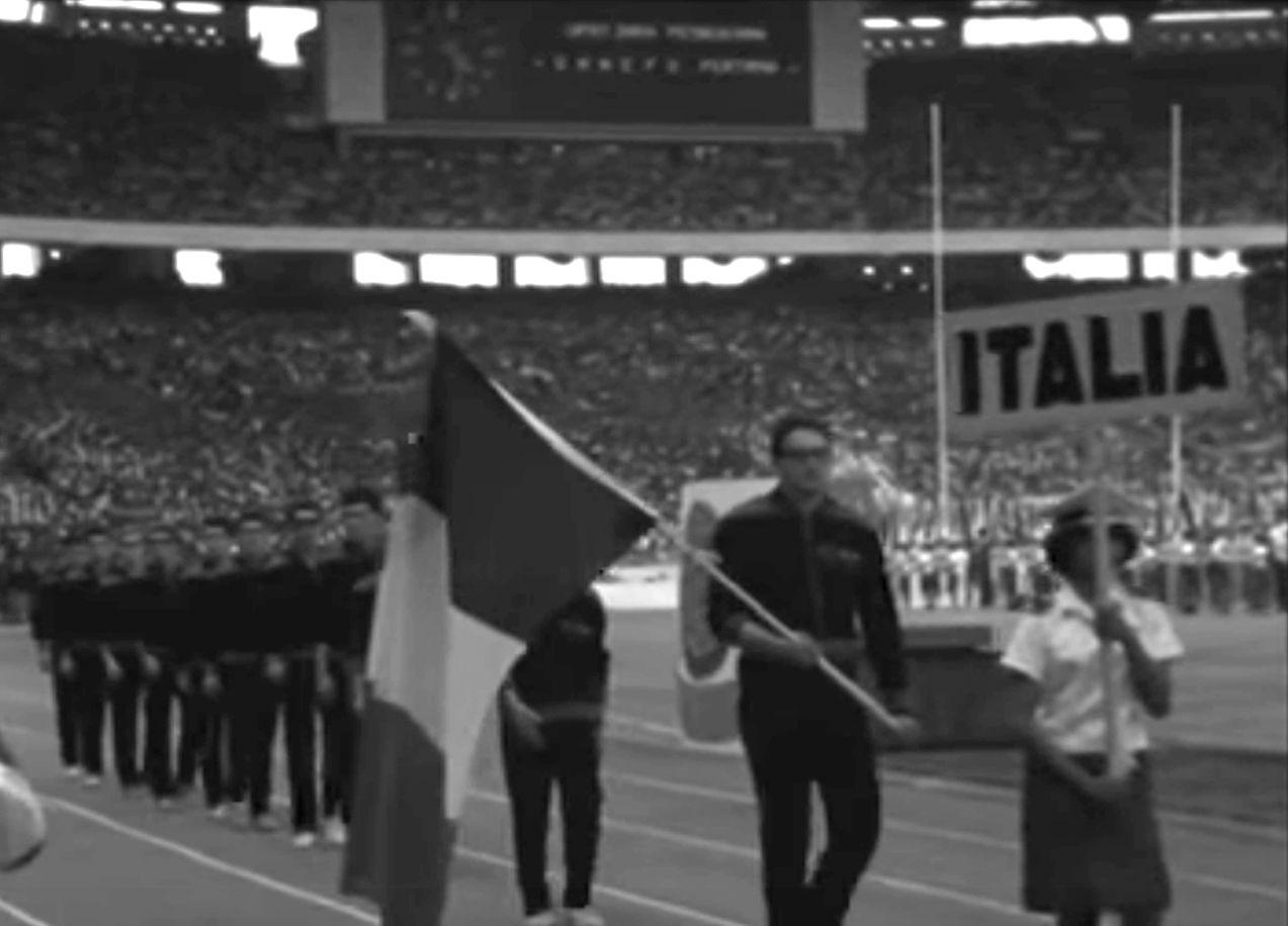 La rappresentativa italiana ai Ganefo del 1963, Giakarta - Frammento di un filmato ufficiale indonesiano.
