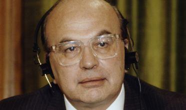 Bettino Craxi, febbraio 1987, foto via Getty Images.