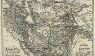 Fonte figura 5: H.H.W. BerghAus, Iran und Turan (Persien, Afghanistan, Bi- ludschistan, Turkestan), da Stieler's Hand Atlas über Alle Theile der Erde, Go- tha 1839, Perthes, tav. XLVI (Library of Congress).