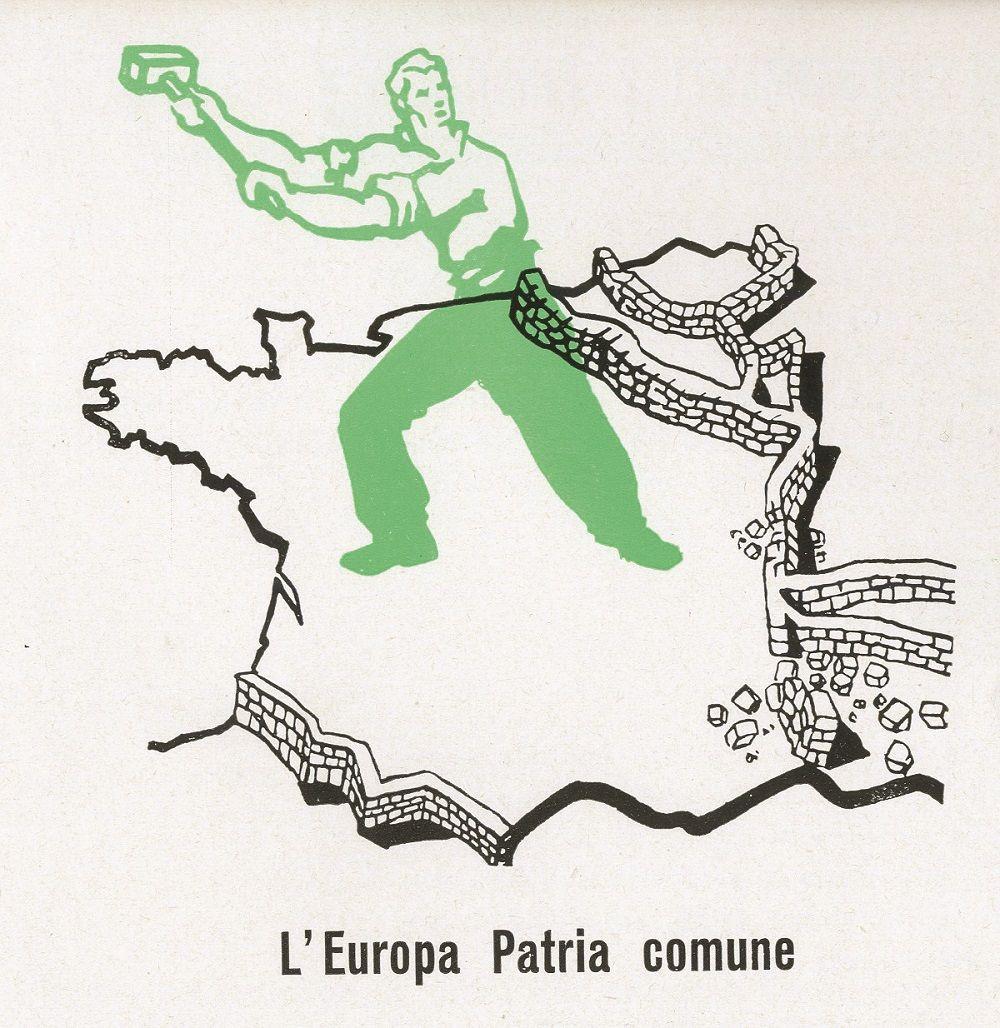 Fonte figura 2: L'Europa Patria comune, da un opuscolo pubblicato dall'Ufficio stampa dell'Alta autorità della Comunità europea del carbone e dell'acciaio, Roma, marzo 1955, f.t.