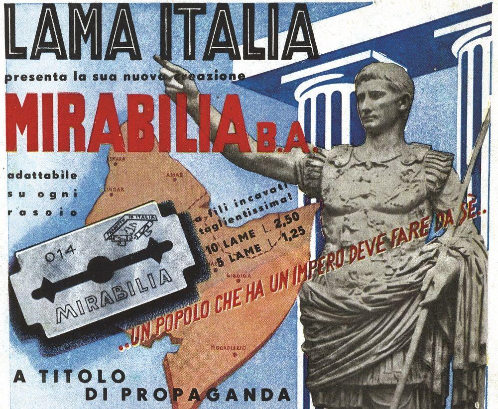 Fonte figura 6: inserzione pubblicitaria in quarta di copertina della rivista Le vie d'Italia, a. XLIV, n. 10, ottobre 1938, XVI-XVII E.F. (Era Fascista).