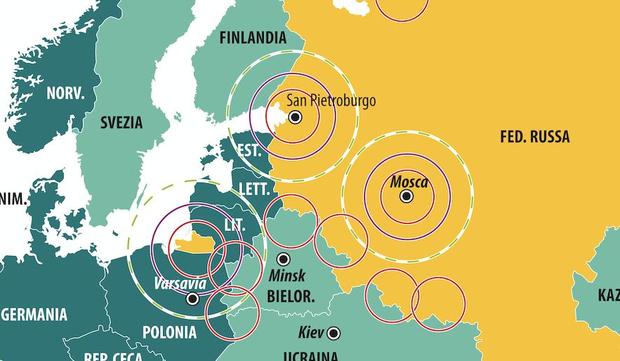 Dettaglio avamposti missilistici russi