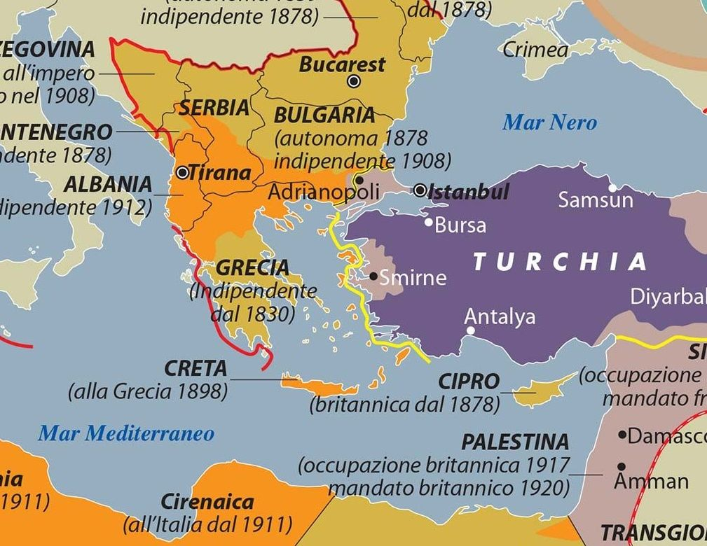 Cartina Italia Nel 400.Carta Dell Impero Ottomano Storia Del Crollo Limes