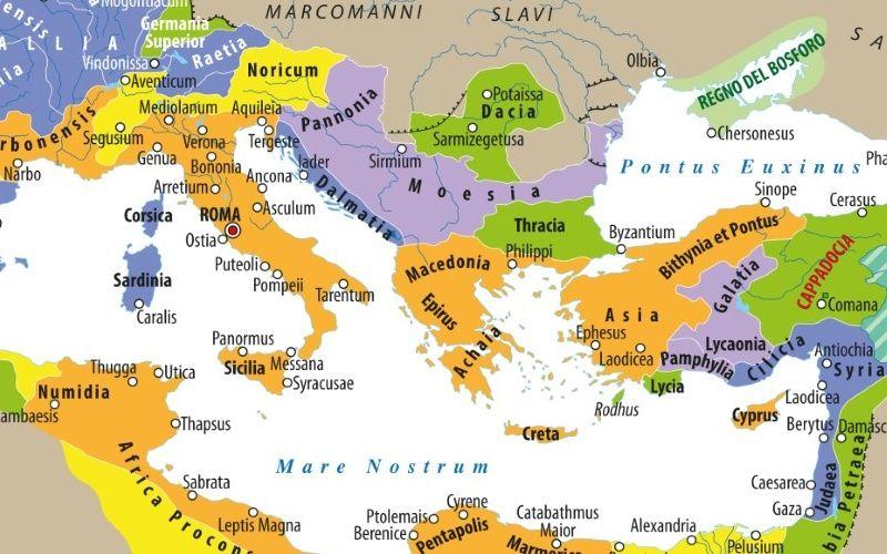 Cartina Italia Romana.Carta L Impero Romano Da Augusto Ai Severi Limes