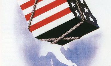 Fonte: Gli aiuti d'America, grano – carbone – viveri – medicinali, ci aiutano ad aiutarci da noi, manifesto di Rossetti, Cremonesi e Bottoli per il Piano Marshall, 1948.