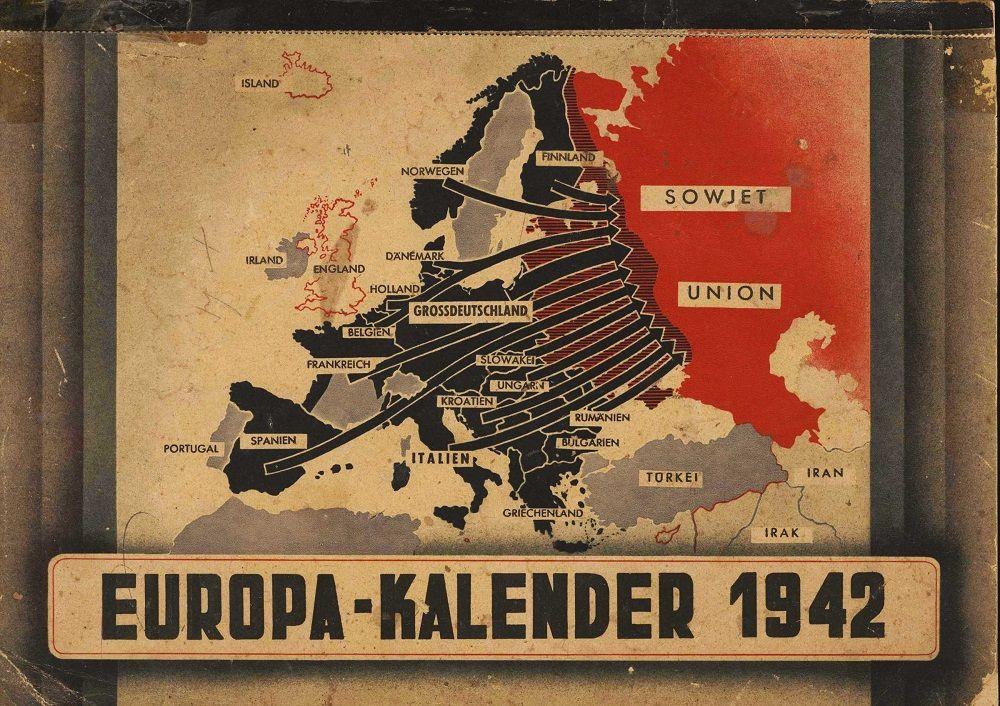 Fonte fig. 3: Europa-Kalender 1942, copertina di calendario di propaganda nazista per l'anno 1942.
