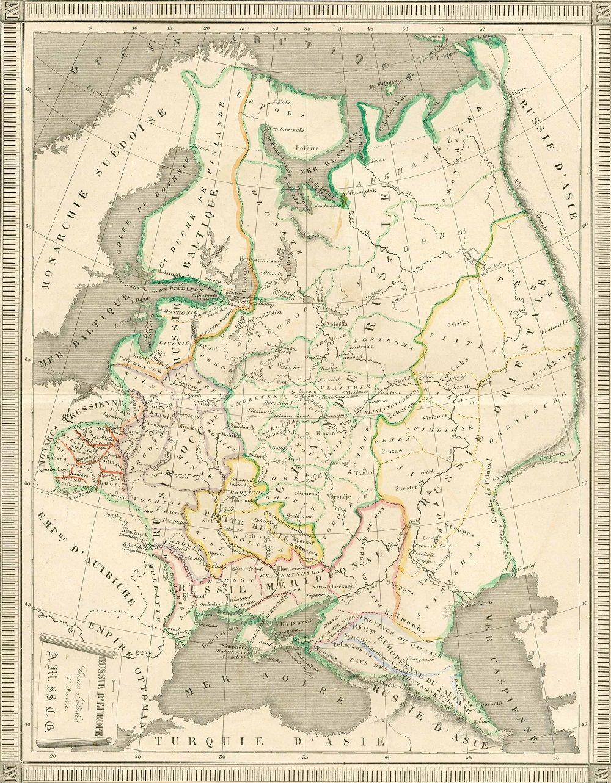 Fonte fig. 4: A. Laurens, Russie d'Europe, Cours d'études, 2e Partie, Paris 1840 ca.