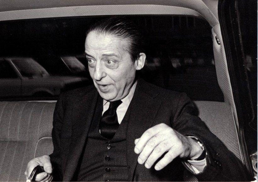 Enrico Cuccia aboard a car