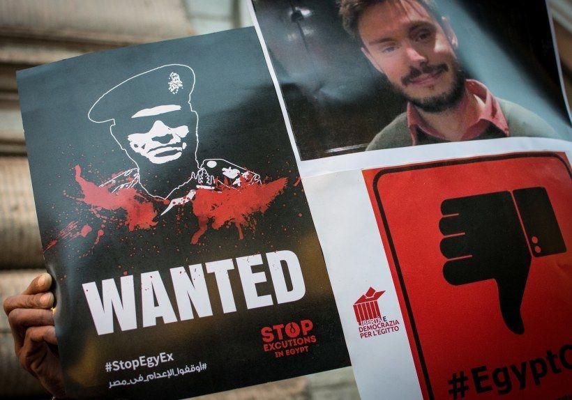 Manifestazione a Roma per la verità sul caso di Giulio Regeni. Foto di Andrea Ronchini/Pacific Press/LightRocket via Getty Images.