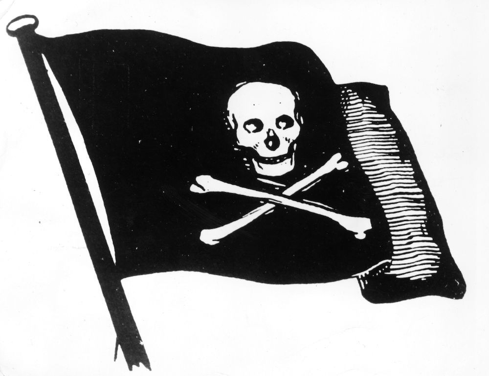Circa 1750, The skull and crossbones. (Photo by Henry Guttmann Collection/Hulton Archive/Getty Images)