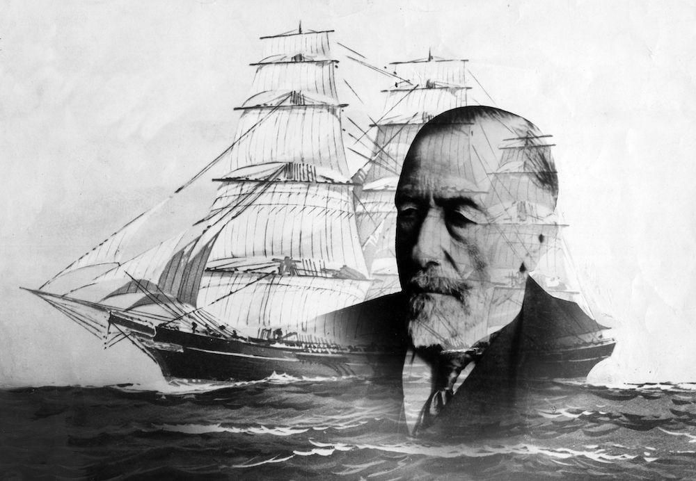 Lo scrittore polacco naturalizzato britannico Joseph Conrad (via Gettyimages)-