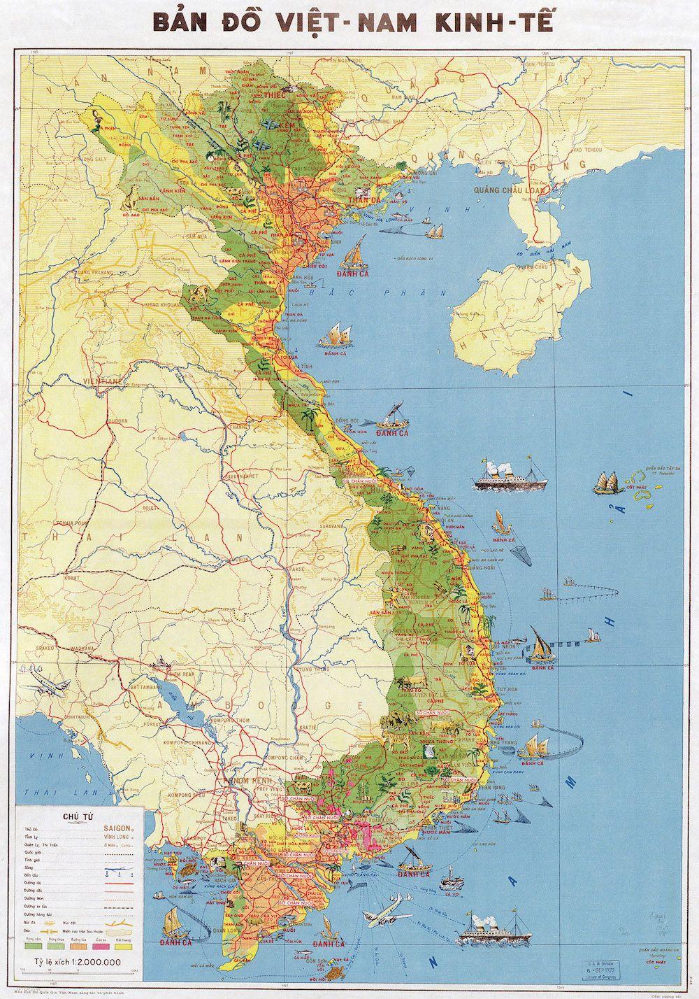 Fonte figura 3: Ban do viet nam kinh-te (Carta economica del Vietnam), Società geografica nazionale del Vietnam, 1969 (dalla Library of Congress).