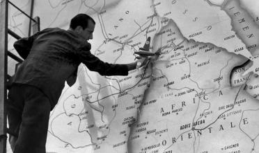 """Dettaglio della copertina del libro di Edoardo Boria """"La storia della cartografia in Italia dall'Unità a oggi"""" (Utet Università)."""