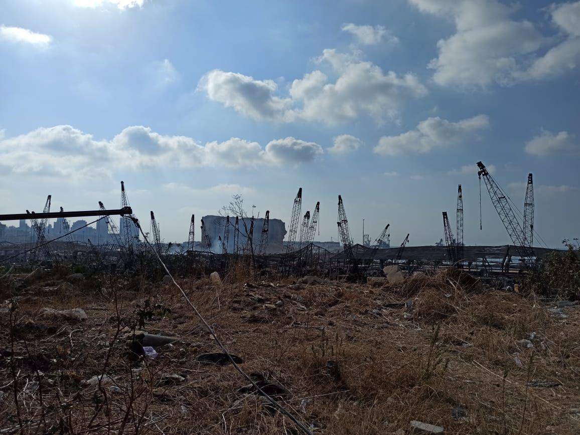 Il porto di Beirut devastato dall'esplosione del 4 agosto 2020 (foto di Lorenzo Trombetta)