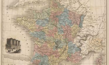 Fonte: France en 1789, da Géographie Universelle. Atlas-Migeon. Dressé par Desbuisson et A T. Chartier, Paris 1879, J. Migeon, tav.9.