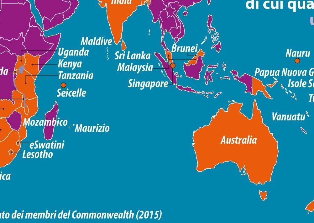 Cartina Degli Stati Del Mondo.Carta Il Commonwealth Limes
