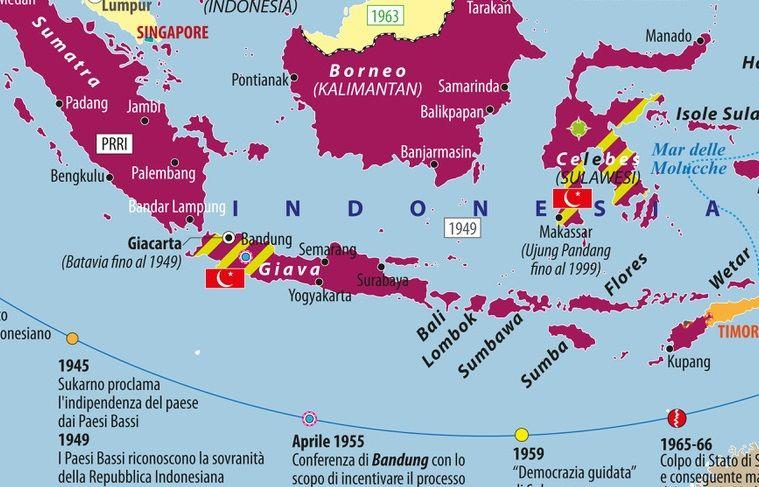 Cartina Bali Indonesia.Carta L Indonesia Storica Limes