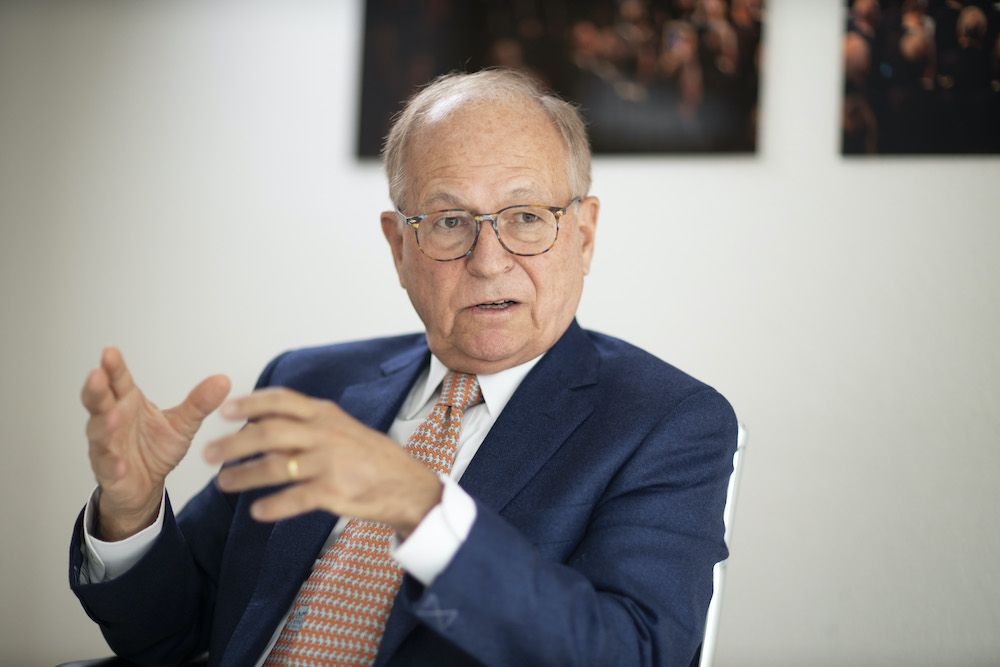 BERLIN, GERMANY - OCTOBER 24 : Wolfgang Ischinger, Chairman of the Munich Security Conference during an interview on October 24, 2019 in Berlin, Germany. (Photo by Thomas Imo/Photothek via Getty Images)
