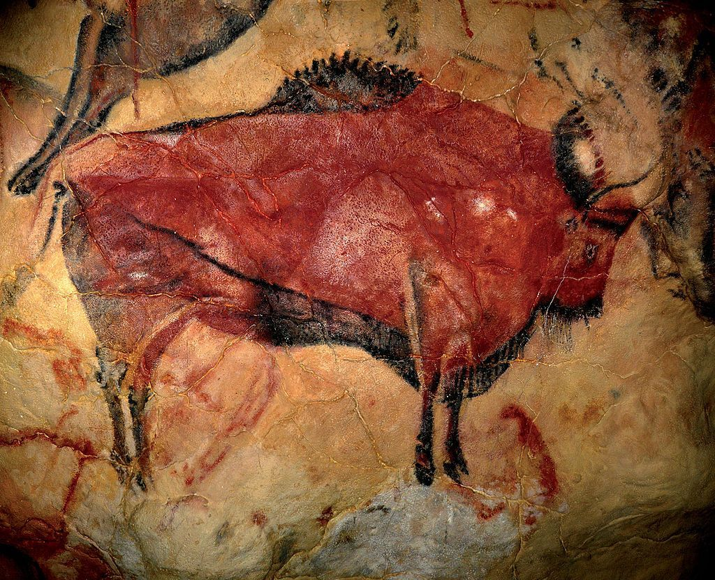 Painting in the cave of Altamira, 35,000 to 11,000 BC. (Photo by Fine Art Images/Heritage Images/Getty Images)