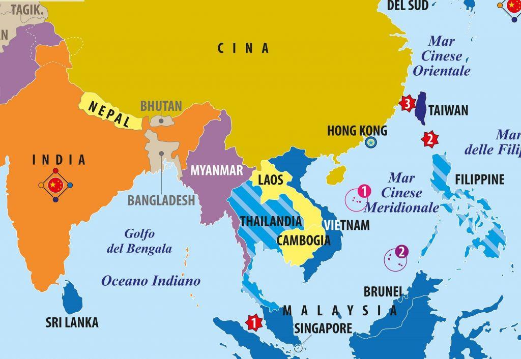 Cartina Mondo Orientale.Carta Del Sud Est Asiatico Vietnam Laos Cambogia Cina Limes