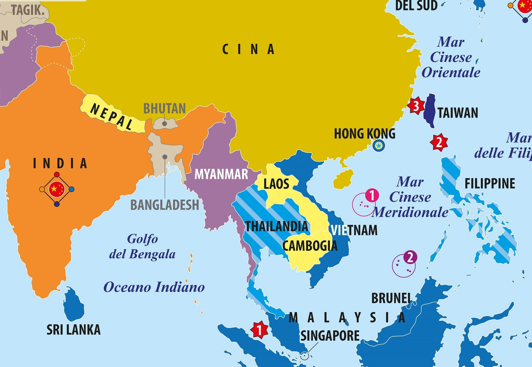 Cartina Geografica Europa Meridionale.Carta Del Sud Est Asiatico Vietnam Laos Cambogia Cina Limes