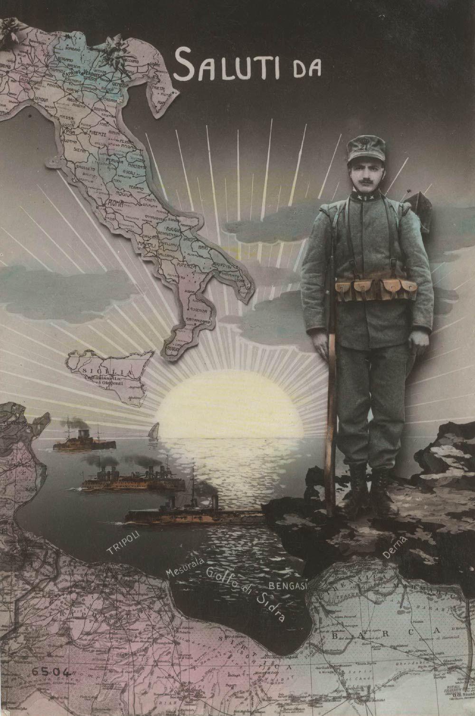 Fonti 5 e 6: Coppia di cartoline risalenti alla conquista italiana della Libia, 1911-12.