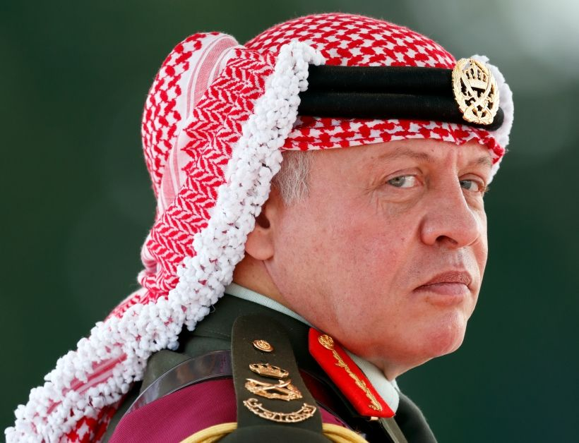 CAMBERLEY, UNITED KINGDOM - AUGUST 11: (EMBARGOED FOR PUBLICATION IN UK NEWSPAPERS UNTIL 48 HOURS AFTER CREATE DATE AND TIME) King Abdullah II of Jordan represents Queen Elizabeth II as he attends the Sovereign's Parade at the Royal Military Academy Sandhurst on August 11, 2017 in Camberley, England. The Sovereign's Parade takes place in the Old College Square at Sandhurst's Royal Military Academy at the end of each term and marks the passing out of Officer Cadets who have completed the commissioning course. King Abdullah graduated from the Royal Military Academy in 1981 and today his son Crown Prince Hussein of Jordan was one of the graduating Officer Cadets. (Photo by Max Mumby/Indigo/Getty Images)