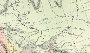 Fonte figura 1: M. Drioux, Ch. Leroy, «Europe politique et ethnographique», in Atlas Universel et Classique de Géographie Ancienne Romaine, du Moyen Age, Moderne et Contemporaine, Paris 1870 a., Belin, tav. 45.
